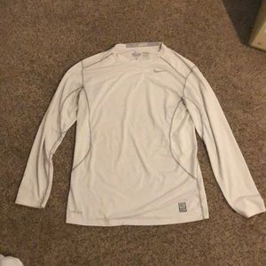 White Nike Pro Combat Dri-Fit Long Sleeve!!